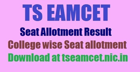 TS EAMCET 2017 Final Counselling Seat Allotment Order Release Today @ tseamcet.nic.in