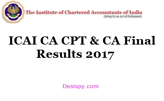 ICAI CA CPT Results 2017 & CA Final Results