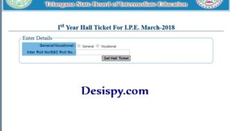 TS Intermediate 1st & 2nd Year Hall Tickets 2018 Download Available @ tsbie.cgg.gov.in, Manabadi.com