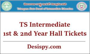 TS Intermediate 1st & 2nd Year Hall Tickets 2019