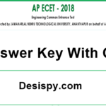 AP ECET 2018 Answer Key Download (Official) – Andhra Pradesh ECET Exam Key with Q.P Branch Wise @ sche.ap.gov.in