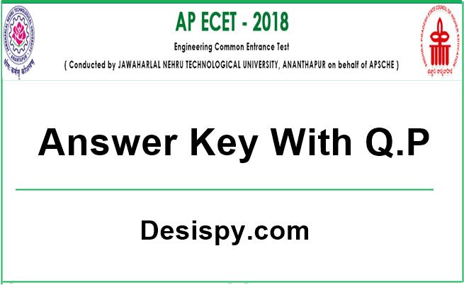 AP ECET 2018 Answer Key