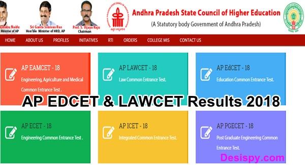 AP EDCET & LAWCET Results 2018