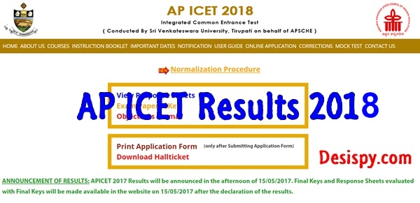 AP ICET Results 2018
