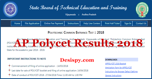 AP Polycet Results 2018