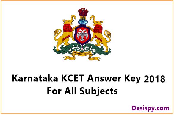 KCET Answer Key 2018