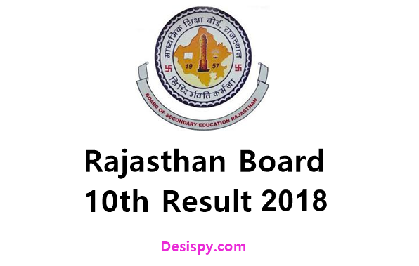 Rajasthan RBSE 10th Result 2018