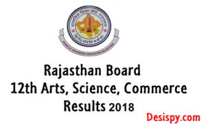 RBSE 12th Arts Results 2018 – Check Rajasthan Board 12th Result Name Wise @ Rajresults.Nic.in