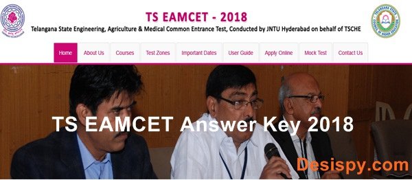 TS EAMCET Answer Key 2018