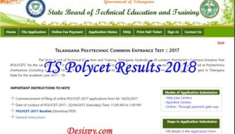 TS POLYCET Results 2018 @ polycetts.nic.in – Telangana CEEP Rank Card, Score, Cutoff Marks at Manabadi.com