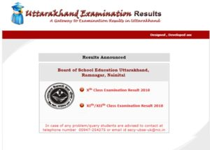 Uttarakhand UBSE 12th Result 2018 – uaresults.nic.in Class XII Toppers List Name Wise