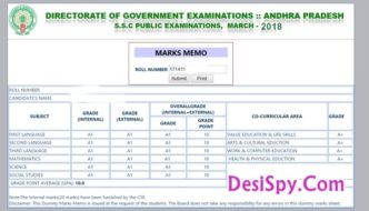 AP 10th Class Results 2018 @ Manabadi.com – BSE Andhra Pradesh SSC Result with Grades, Marks Name Wise at Indiaresults