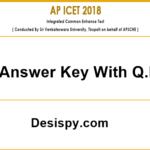 AP ICET Answer Key 2018 Download (Official) – Andhra Pradesh ICET Exam Key with Q.P @ sche.ap.gov.in