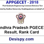 AP PGECET Results 2018 – Check Andhra Pradesh PGECET Rank Card, Result, Marks Download at sche.ap.gov.in