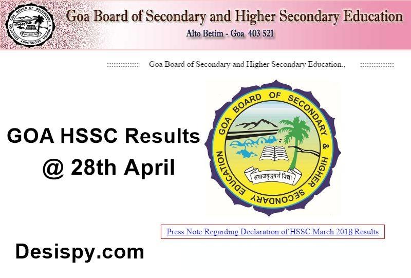 goa board hssc result 2018