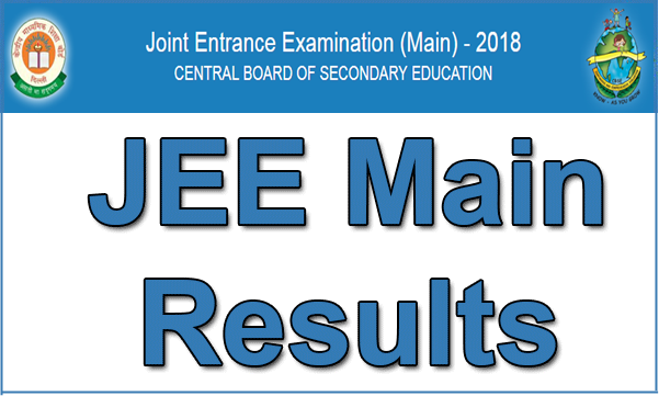 JEE Main Result 2018