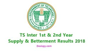 Telangana TS Inter 1st & 2nd Year Supply/ Betterment Results 2018 @ Manabadi.com,Schools9