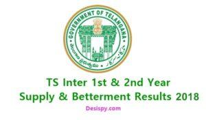 Telangana TS Inter 1st & 2nd Year Supply/ Betterment Results 2018 @ Manabadi.com,Schools9
