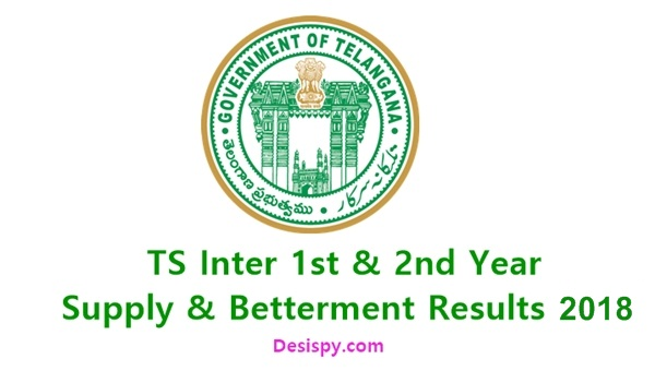 TS Inter 1st & 2nd Year Supply/ Betterment Results 2018